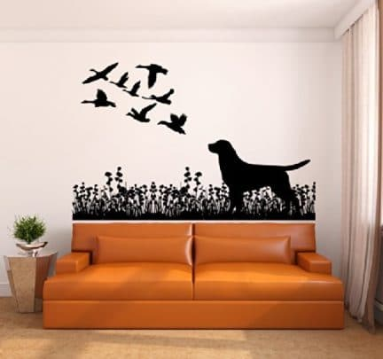 labrador-dog-ducks-wall-decal