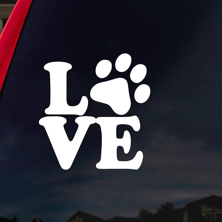love-paw-dog-decal