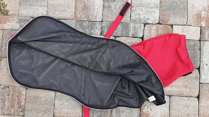 K9 Apparel Dog Rain Coat Straps and Mesh